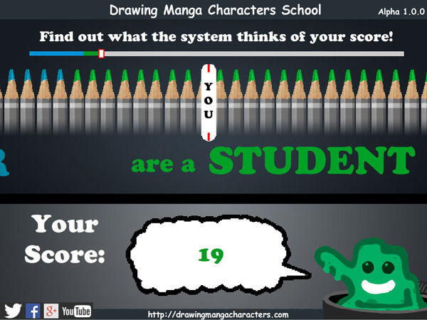 Drawing Manga Characters School Score Screenshot